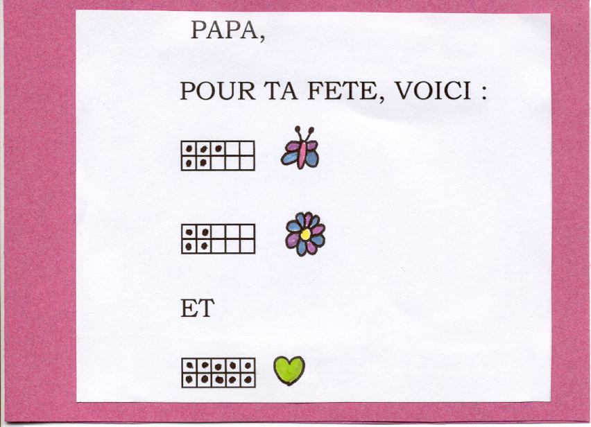 Les cartes points - Carte fete des peres maternelle ...